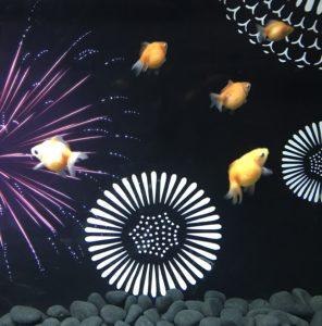 金魚と花火